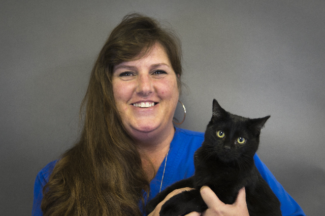 Vinissa Bailey - Dispatcher, pictured with Aurora.